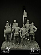 FeR Agincourt 'We Few' Knights 2 FIGURE SET 75mm Unpainted resin kit