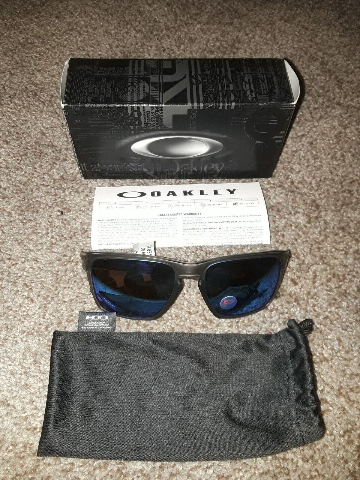 757b0cbc3b0d5 Oakley Oo9341 Sliver XL 934103 Matte Grey Ink Size 57   eBay