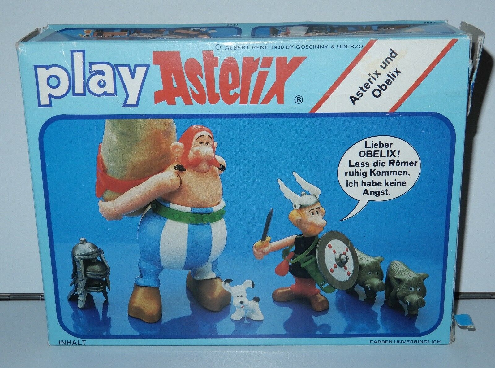 ASTERIX PLAY ACTION ACTION ACTION FIGURES 6240 ASTERIX & OBELIX 100% COMPLETE MIB 1980s CEJI ff4a4e