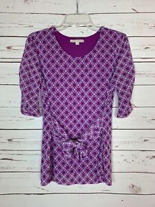 41 Hawthorn Stitch Fix Women's S Small Purple Cute Spring Summer Top Blouse