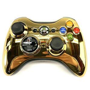 Microsoft-Xbox-360-Special-Edition-Chrome-GOLD-Series-Controller-Actual-Photos