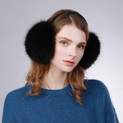 Thick Fur Real Vulpes Lagopus Fox Fur Earmuffs Warm Fashion Large Earmuff Soft