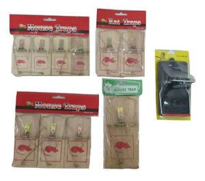 Mouse Wood Traps Mice Rats Rodent Reusable WoodenTraps Plastic Trap Durable