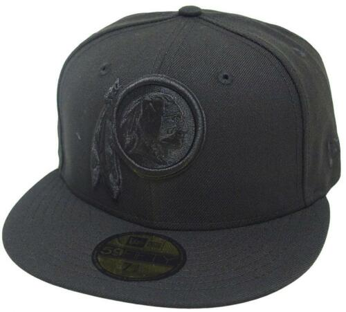 New Era Washington Redskins Black On Black Cap 59fifty Fitted Limited Edition