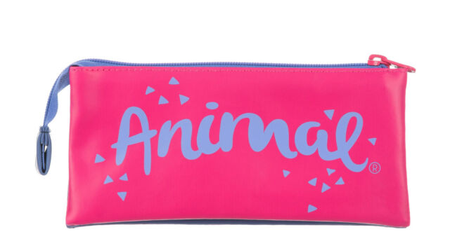 "HE6WJ006-T21 NAVY ANIMAL /""MADDOCKS/"" 3 POCKET PENCIL CASE RRP £10"