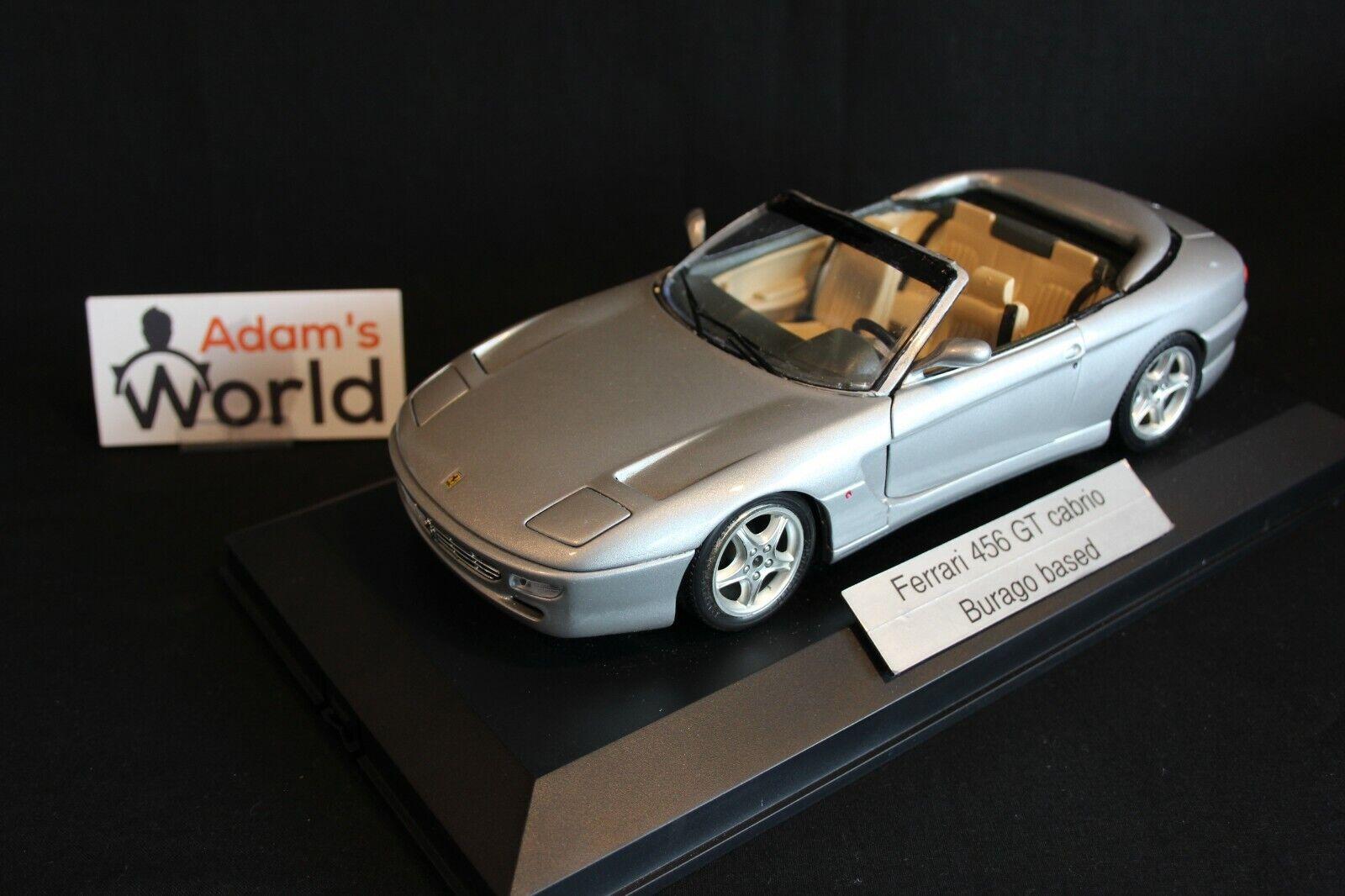 Bburago built transkit Ferrari 456 GT Cabriolet 1 18 Silber (PJBB)