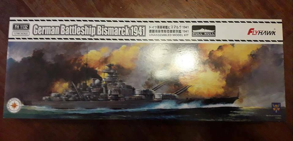Fliegenhawk German battleship Bismarck  FH1132  scale 1 700 plastic kit