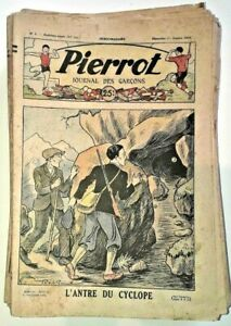 lot-50n-PIERROT-journal-des-garcons-1933-n-1-2-3-4-5-6-7-8-10-etc-Gervy-PITCHE