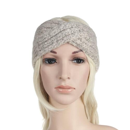 Fashion Winter Warm Thick Hair Band Woolen Knitted Elastic Turban Headband Girls