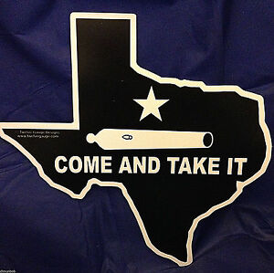 034-Come-and-Take-It-034-Texas-Shaped-Decorative-Sign