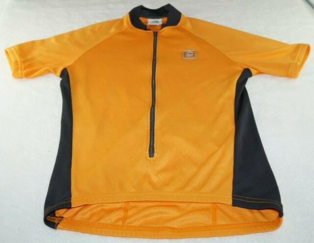 Cannondale Men's Vertex Half Zip Orange Short Sleeve Cycling Bike Jersey Size S