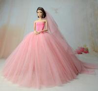 Fashion Royalty Princess Dress/clothes/gown+veil For Barbie Doll S521u