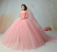 Fashion Royalty Princess Dress/clothes/gown+veil For Barbie Doll S521u