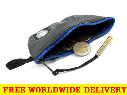 RECYCLED COIN PURSE for Change /& Cards with Zip from BikeTube FREE DELIVERY