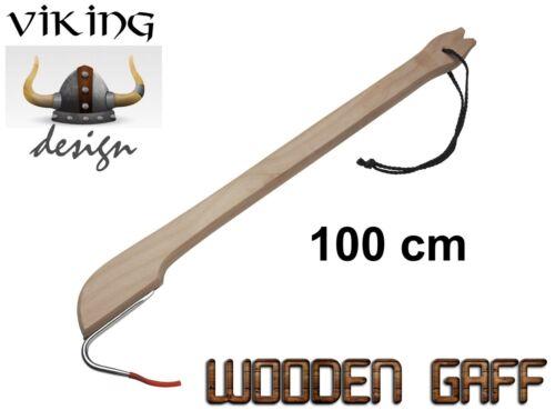 Holz-Gaff im Skandinavischen Design 100 cm Wooden Gaff