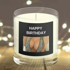 BIRTHDAY Female Body Candle, curvy torso candle, naked figure decorative candle