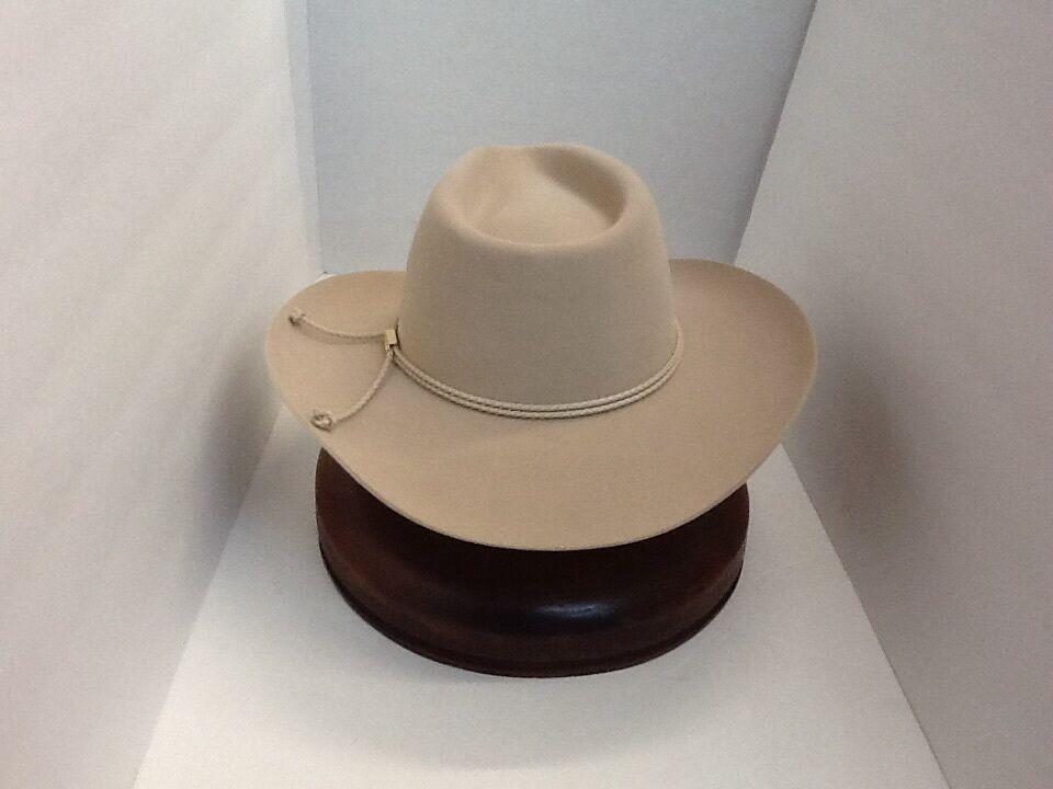 Stetson Cowboy Hat 6x BeaverFur Silverbelly Carson With Brush No Tax 6 7 8  3 1 2