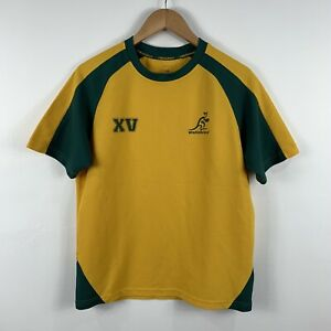 Wallabies-Australian-Rugby-Shirt-Size-Medium-Short-Sleeve