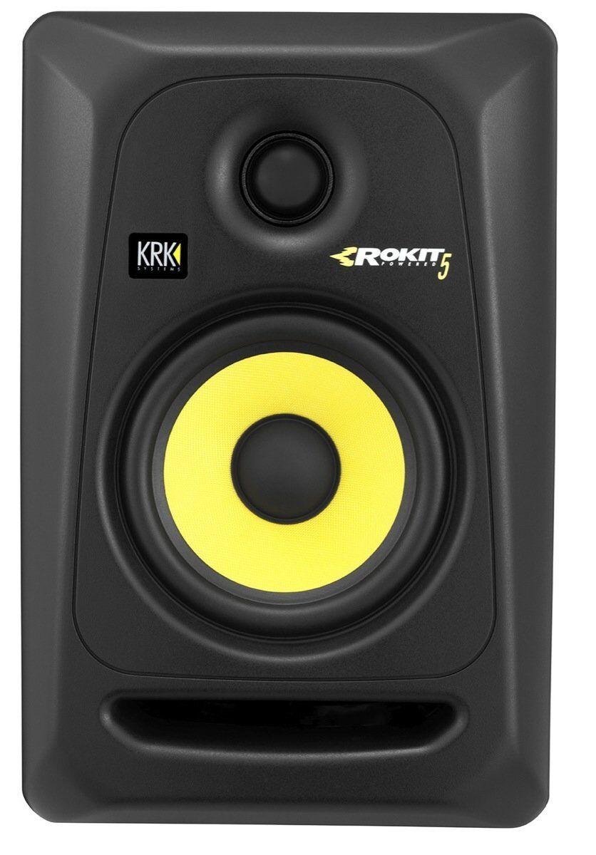 KRK RP5G3 Rokit 5 Active Generation-3 Powered Studio Monitor 2-Way Amplified