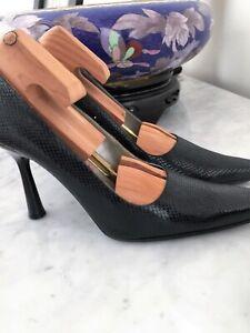 Bebe-Leather-Pumps-Pattern-Women-High-Heel-Size-8-M
