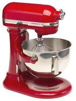 Kitchenaid Pro Stand Mixer 450-w 5-qt Kv25g0x Metallic Chrome & Red 2 Colors