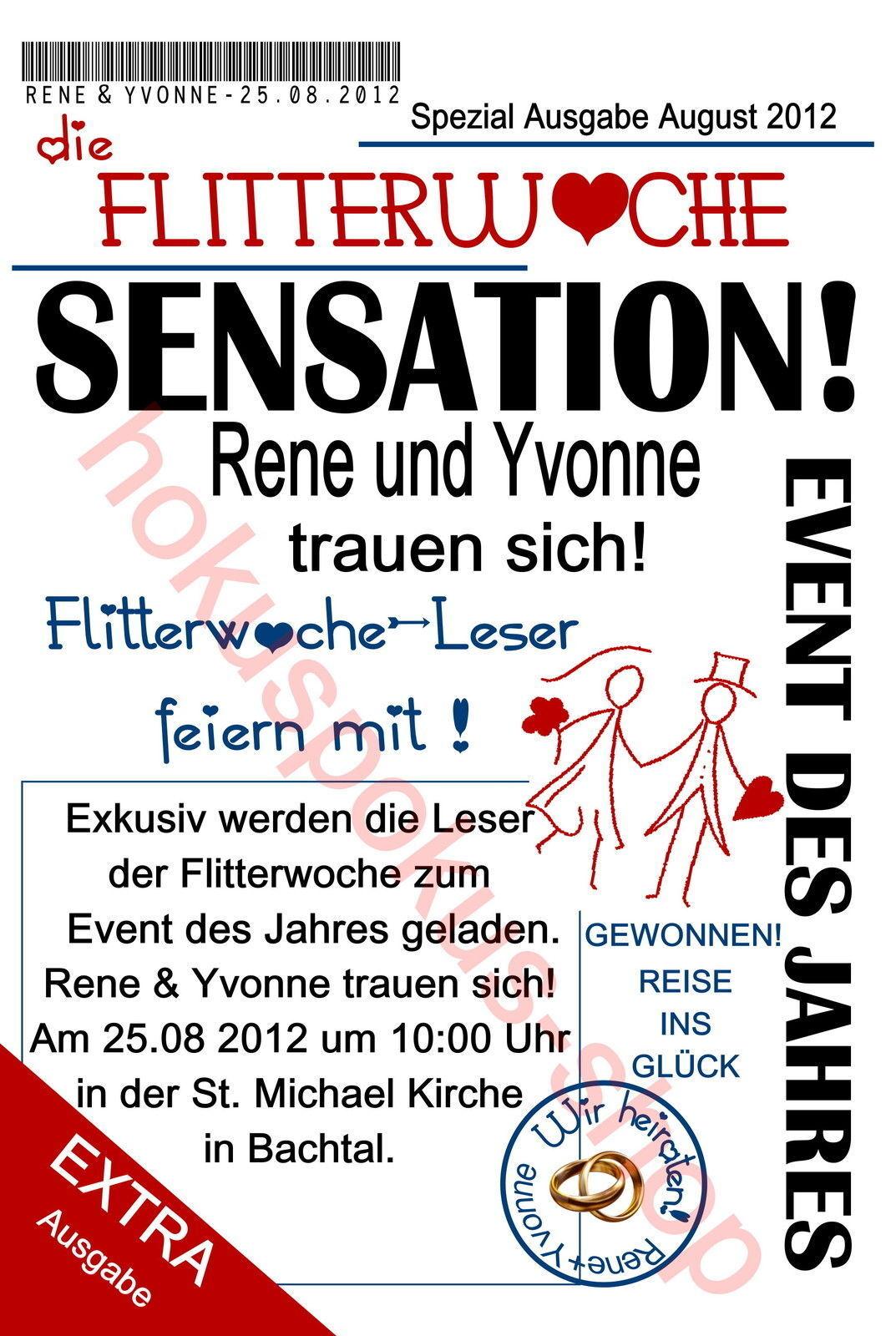20 Einladungskarten Hochzeit Einladungen Fotokarte Hochzeitskarte FLITTERWOCHE     Deutschland Store    Flagship-Store