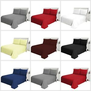 Lavable-tenida-unicolor-plana-bed-sheet-single-Doble-King-Size-o-fundas-de-almohada