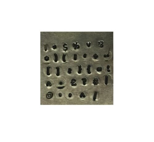 Proops 31 Pieza 2.5mm Teclado símbolo Signo metalistería Sellos De Trabajo De Metal M9269