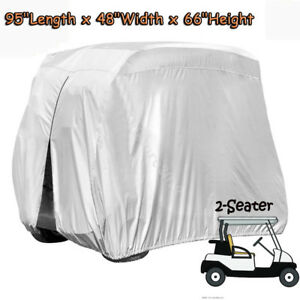 Silver-2-Seater-Waterproof-Heavy-Duty-Golf-Cart-Buggy-Storage-Cover-For-Yamaha