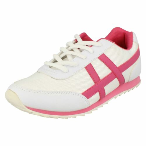 Kett R40A Spot On F8R981 White//Fuchsia Ladies Lace Up Trainers UK Sizes 4-8