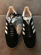 Adidas Gazelle W Originals Black/Gold/white Size 8 New