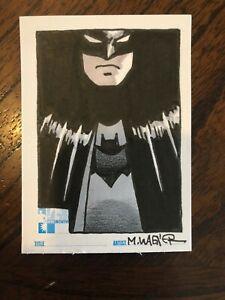 MATT WAGNER original art BATMAN on Hero Initiative sketchcard