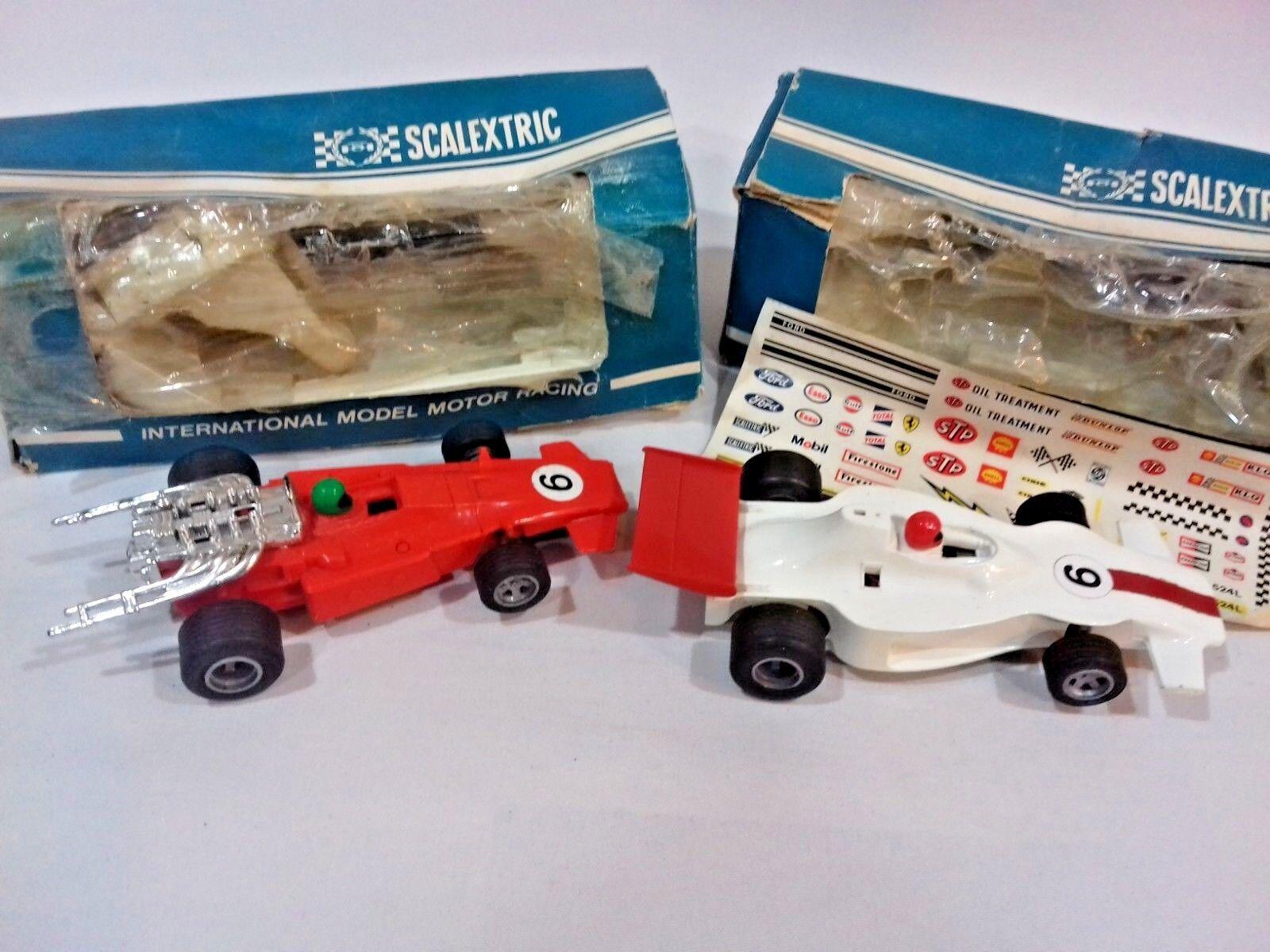 Scalextric voiture vintage F1 Flèche Rouge C023 & C012 Shadow & Feuille Autocollant Rovex Ltd