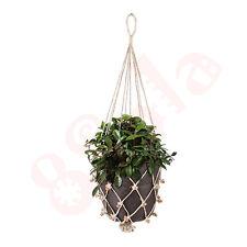 Classic Macrame Decorative Handmade Plant Hanger Natural Jute Twine Basket D09