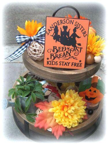 Halloween MINI SIGN Sanderson Sisters TIERED TRAY DECOR Wood HOME WALL HOCUS