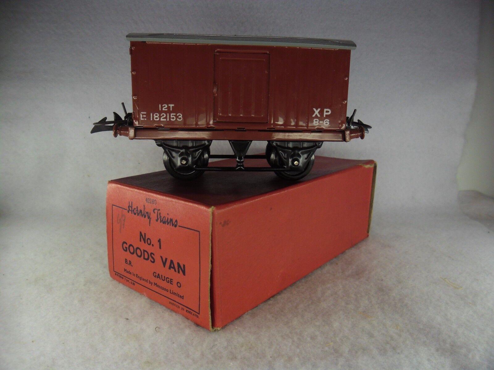 Hornby 'O' Gauge Boxed BR No.1 Goods Van 42160