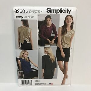 Uncut-Simplicity-Pattern-8260-XXS-XXL-Misses-Top-In-Two-Lengths-Fabric-Variation