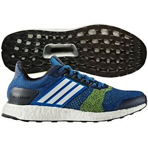 a4fded473e235 adidas Ultra Boost ST Running Shoe - Men s Blue White Solar Yellow ...