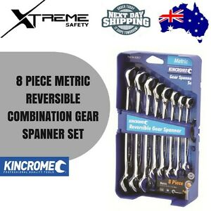 Kincrome-8-Piece-Metric-Reversible-Combination-Gear-Spanner-Set