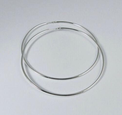 925er Silber Creolen 62 x 1,7 mm  K587