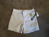 NWT Seven7 Womens Embroiderd Shorts-Color-Optic White-Size-10-MSRP-$49.00