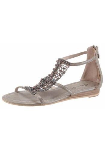 """/""""alma en pena/"""" damas sandalia decorado verano zapatos Taupe metálico art.19.0441"""