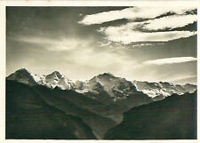 Eiger Alpes Alps Schweiz Switzerland Suisse Zeppelin Airship IMAGE CARD 30s