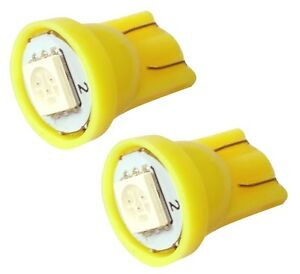 2x-ampoule-T10-W5W-12V-LED-SMD-jaune-veilleuses-eclairage-interieur-coffre