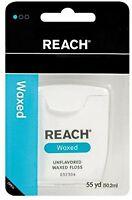 4 Pack Johnson & Johnson Reach Dental Floss Waxed Floss 55 Yards Each on sale