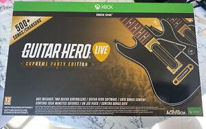 Guitar Hero vivo Edición Supreme fiesta para Xbox One.! nuevo!! Sellado