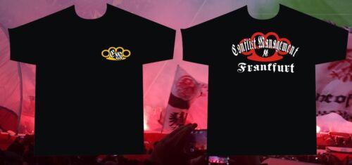 T-Shirt Conflict Management Frankfurt passend für alle hooligans AC//AB rowdys