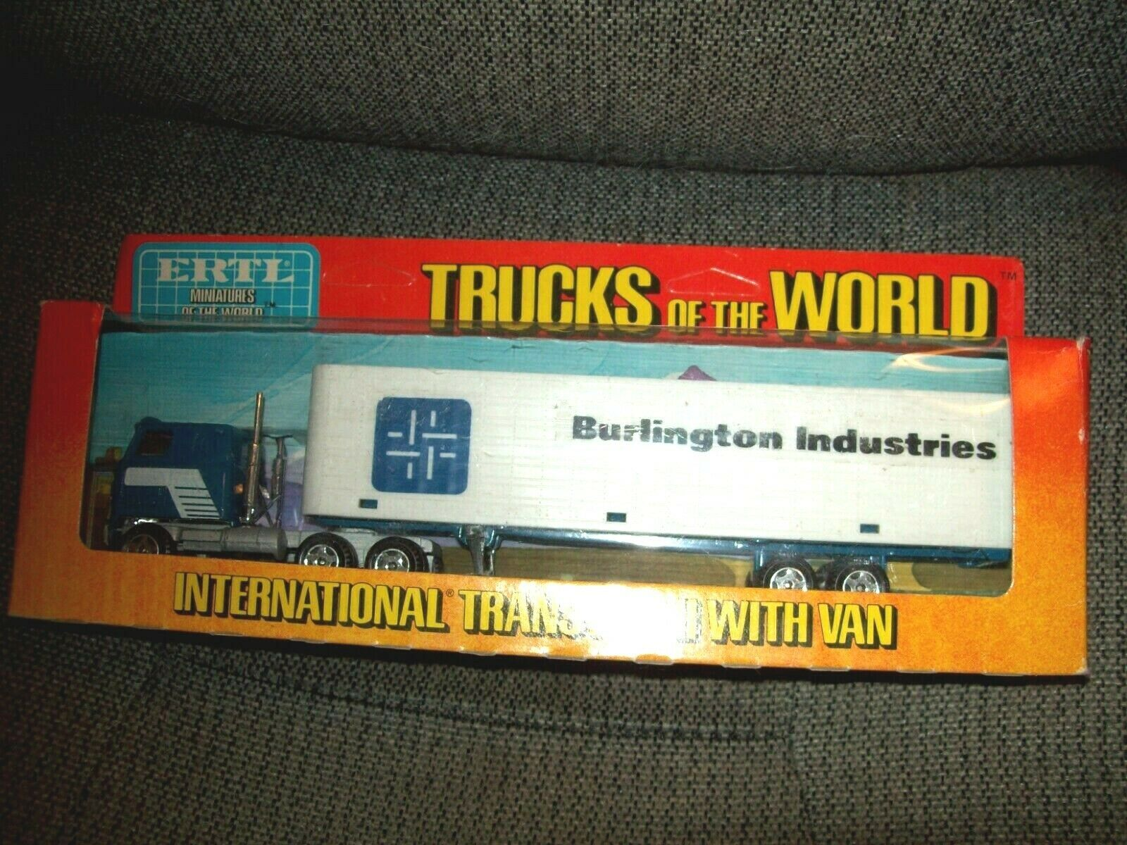 ERTL  1653 TRUCKS OF THE WORLD, INTERNATIONAL TRANSTAR TRK, BURLINGTON VAN, VGC