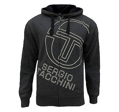 Sergio Tacchini Men's Johnson Fleece Full Zip Hoodie Charcoal