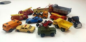 JOB-LOT-VINTAGE-MATCHBOX-AUTO-CAMION-1960s-70s-80s-BUNDLE-DA-COLLEZIONE